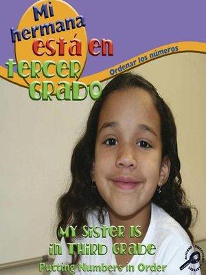 cover image of Mi hermana está en terver grado