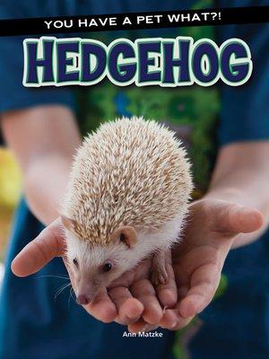 cover image of Hedgehog
