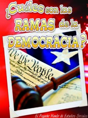 cover image of ¿Cuáles son las ramas de la democracia?