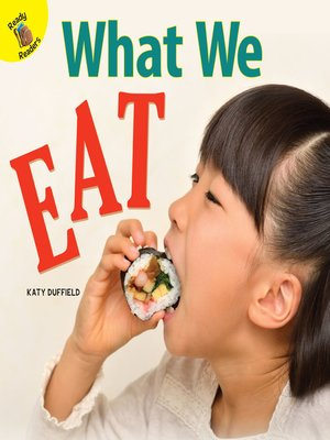 cover image of What We Eat