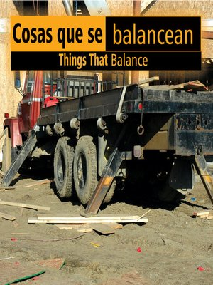 cover image of Cosas que se balancean (Things That Balance)