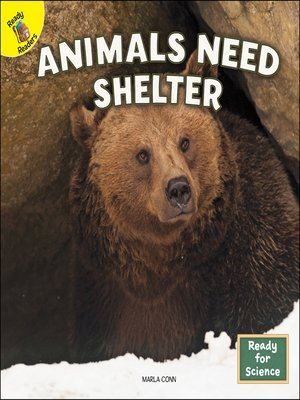 cover image of Animals Need Shelter