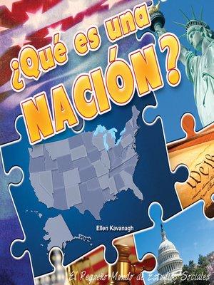 cover image of Qué es una nación?