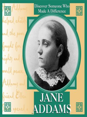 cover image of Jane Addams
