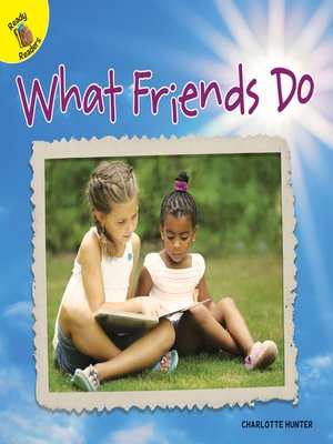 cover image of What Friends Do