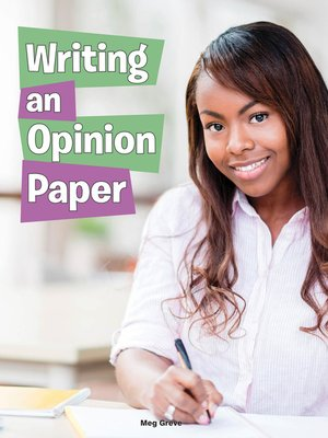cover image of Writing an Opinion Paper