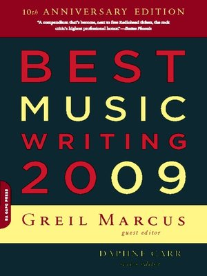 cover image of Best Music Writing 2009