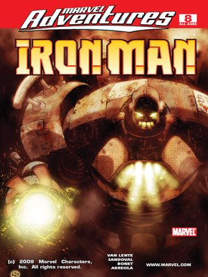 cover image of Marvel Adventures Iron Man, Issue 8