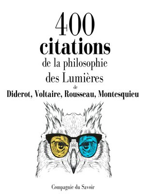 cover image of 400 citations de la philosophie des Lumières