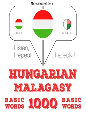 cover image of Hungarian-Malagasy: 1000 basic words