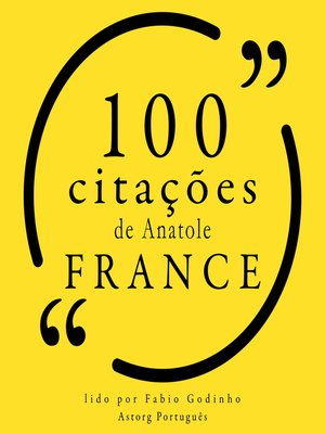 cover image of 100 citações de Anatole France