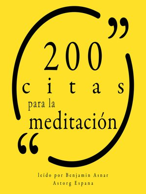 cover image of 200 citas para la meditación