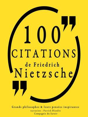 cover image of 100 citations de Friedrich Nietzsche