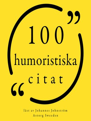 cover image of 100 humoristiska citat