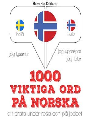 cover image of 1000 viktiga ord på norska