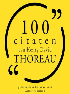 cover image of 100 citaten van Henry-David Thoreau