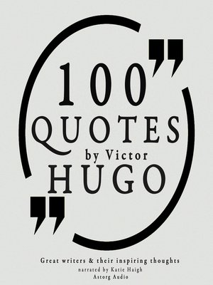 cover image of 100 Quotes by Victor Hugo