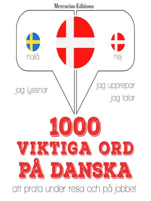 cover image of 1000 viktiga ord på danska