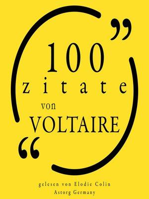 cover image of 100 Zitate von Voltaire