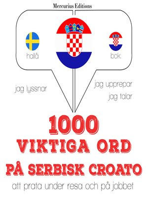 cover image of 1000 viktiga ord på serbisk croato