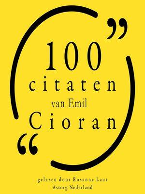 cover image of 100 citaten van Emil Cioran