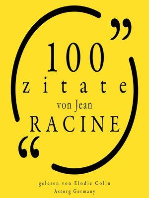 cover image of 100 Zitate von Jean Racine