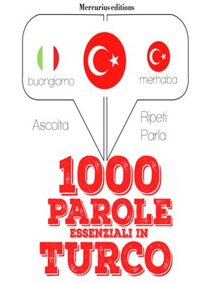 cover image of 1000 parole essenziali in Turco
