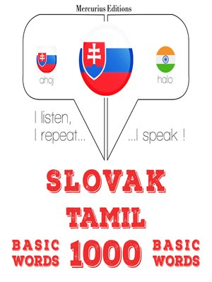 cover image of Slovak-Tamil: 1000 basic words