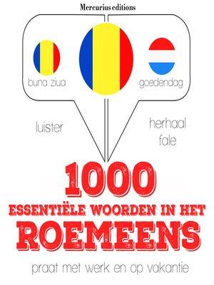 cover image of 1000 essentiële woorden in het Roemeens