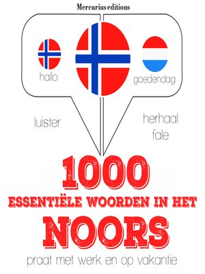 cover image of 1000 essentiële woorden in het Noors