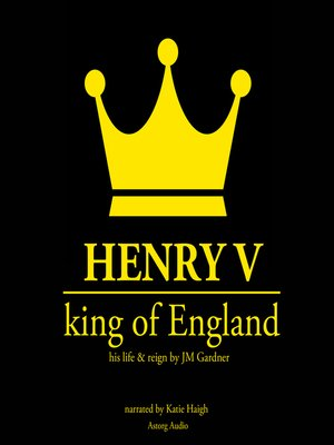 cover image of Henry V, King of England