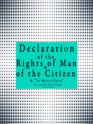 cover image of French Declaration of the Rights of Man and of the Citizen
