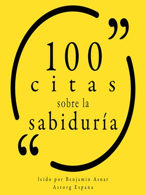 cover image of 100 citas sobre la sabiduría