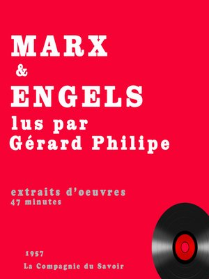 cover image of Gérard Philipe lit Karl Marx et engels