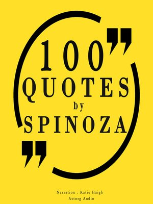 cover image of 100 Quotes by Spinoza