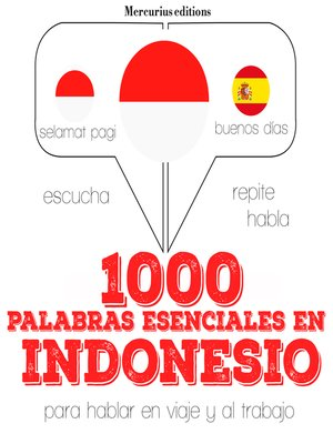 cover image of 1000 palabras esenciales en indonesio