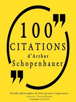 cover image of 100 citations d'Artur Schopenhauer