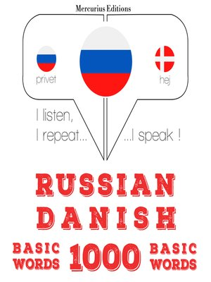 cover image of Russian-Danish: 1000 basic words