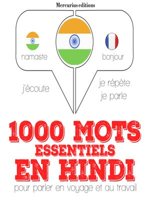 cover image of 1000 mots essentiels en hindi