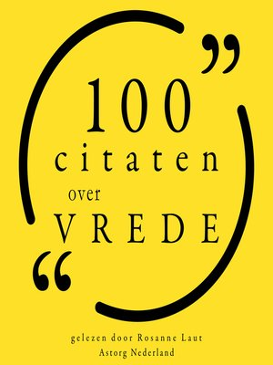 cover image of 100 Citaten over Vrede