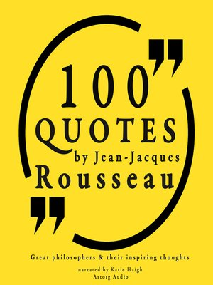 cover image of 100 Quotes by Jean-Jacques Rousseau