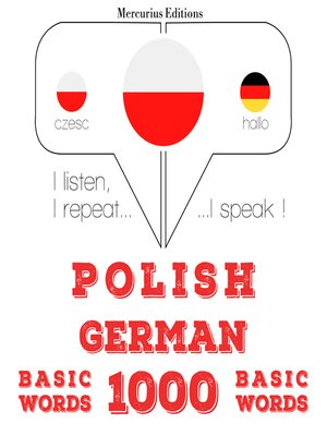 cover image of Polish-German: 1000 basic words