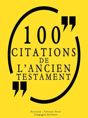 cover image of 100 citations de l'Ancien Testament
