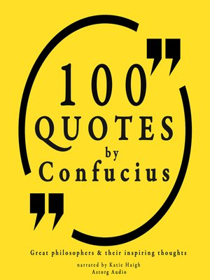 cover image of 100 Quotes by Confucius