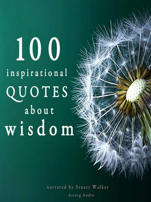 cover image of 100 Inspirational Quotes about Wisdom