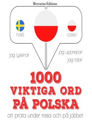 cover image of 1000 viktiga ord på polska