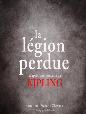 cover image of La légion perdue