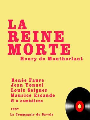 cover image of La reine morte