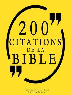 cover image of 200 citations de la Bible
