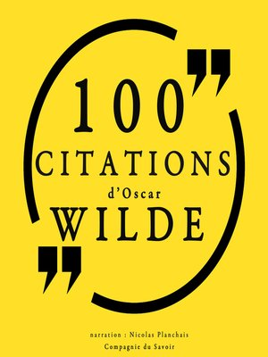 cover image of 100 citations d'Oscar Wilde
